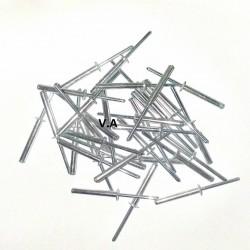 Rivets alu boîte de 150 pièces 4,8/35 TETE PLATE.