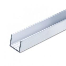 Tube carré aluminium de forme U 20*20 2mm .
